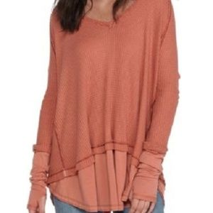 NWT Free People Laguna Layered-Look Top